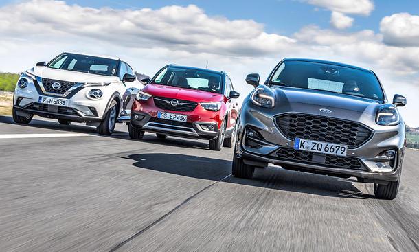 Nissan Juke/Opel Crossland X/Ford Puma