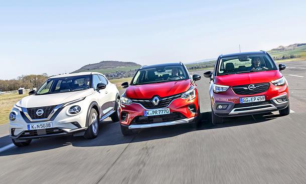 Nissan Juke/Renault Captur/Opel Crossland X