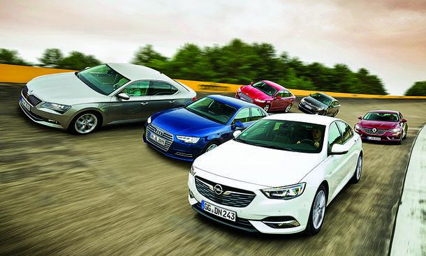 Opel Insignia Grand Sport/Audi A4/Ford Mondeo/Kia Optima/Renault Talisman/Sokda Superb