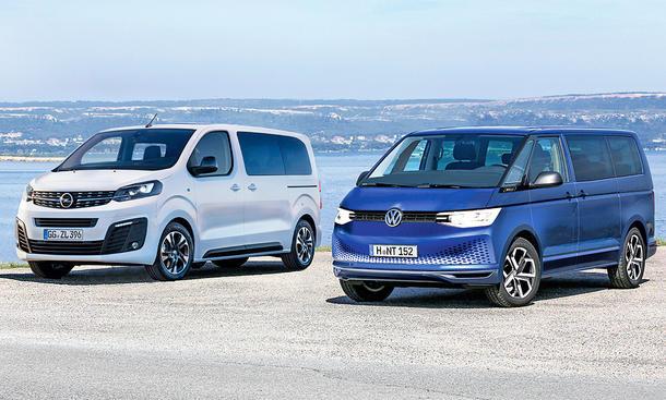 Opel Zafira Life Vw T7 Vergleich Autozeitung De