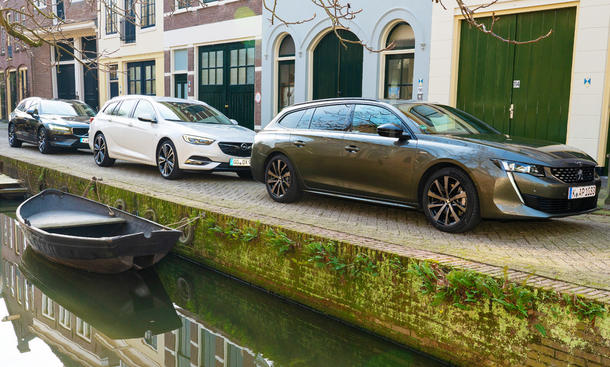 Opel Insignia ST/Peugeot 508 SW/Volvo V60: Test