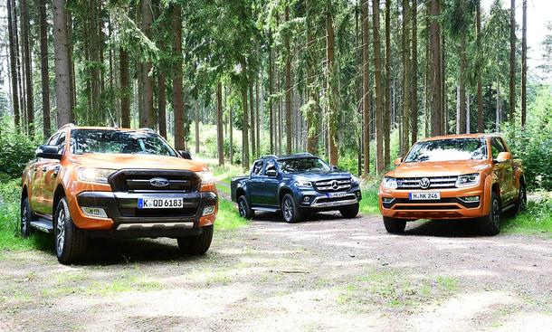 Ford Ranger/Mercedes X-Klasse/VW Amarok: Test