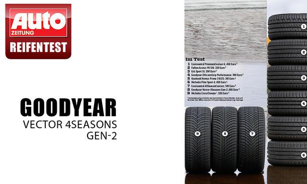 Ganzjahresreifen Platz 1: Goodyear Vector 4Seasons Gen-2