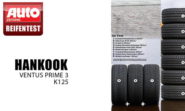 Sommerreifen Platz 5: Hankook Ventus Prime 3 K125