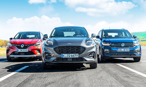 Renault Captur/Ford Puma/VW T-Cross
