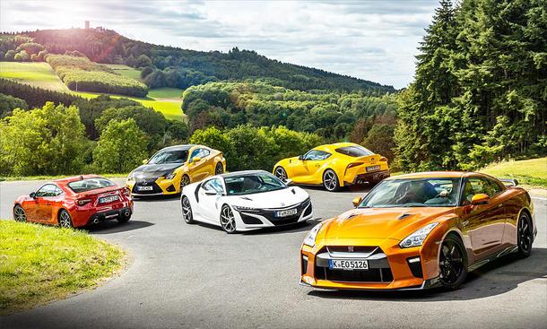 Subaru BRZ/Lexus RC F/Nissan NSX/Toyota Supra/Nissan GT-R: Faszination