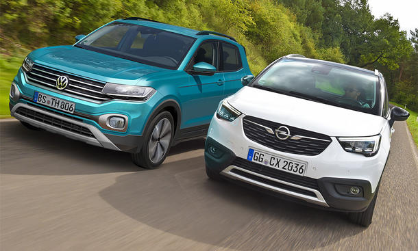 VW T-Cross/Opel Crossland X: Test