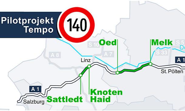 Tempolimit: Österreich beendet 140-km/h-Test