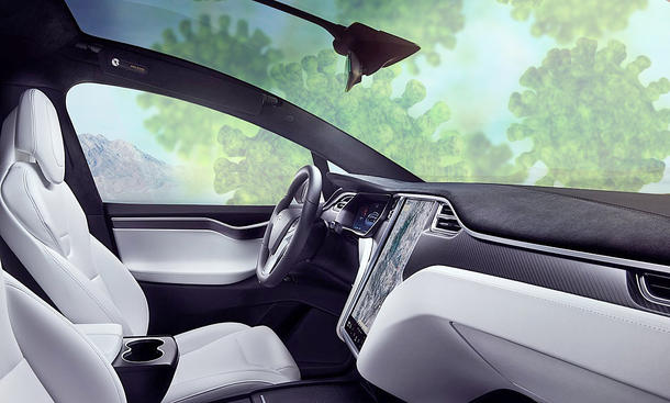 Tesla Model X: Innenraumfilter