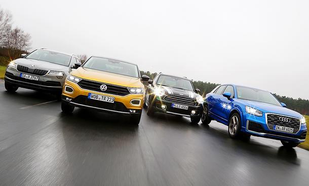 Skoda Karoq, VW T-Roc, Mini Countryman, Audi Q2