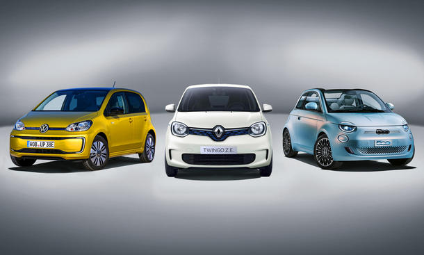 Fiat 500/Renault Twingo Z.E./VW e-Up