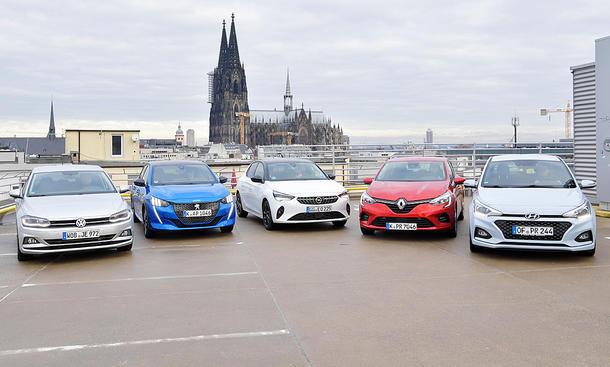 VW Polo/Peugeot 208/Opel Corsa/Renault Clio/Hyundai i20