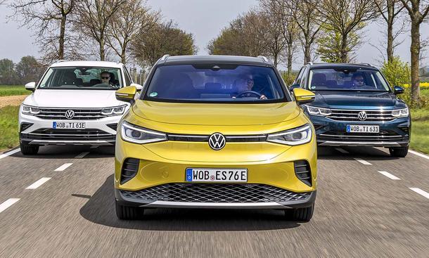 VW Tiguan 1.4 eHybrid/VW ID.4 Pro/VW Tiguan 2.0 TDI SCR 4Motion