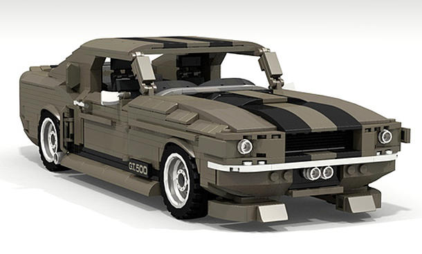 lego shelby mustang gt500 eleanor. Black Bedroom Furniture Sets. Home Design Ideas