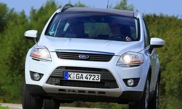 neuer ford kuga (2008) auf erster testfahrt