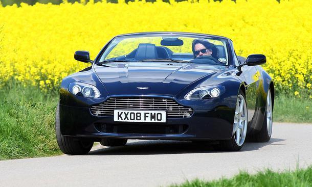 Aston Martin V8 Vantage Mercedes Sl 500 Test Autozeitung De