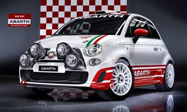 Fiat 500 Abarth rallye: Frontansicht