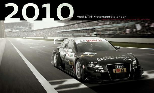 Audi DTM-Motorsportkalender 2010: Deckblatt