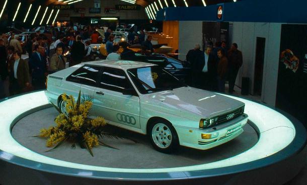 Präsentation des Audi Quattro auf dem Genfer Autosalon 1980