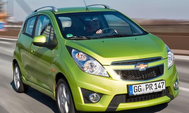 Der neue Stadtflitzer Chevrolet Spark im Einzeltest Testauto mit Reihen-Vierzylinder mit 82 PS