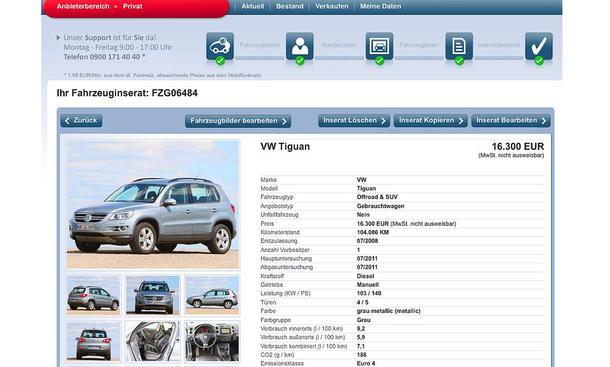 Gebrauchtwagen im Internet verkaufen