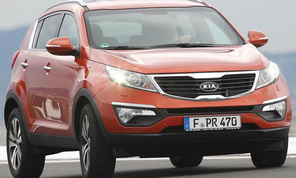 Kia Sportage 2.0 CRDi AWD Vorderansicht