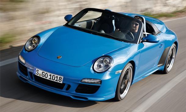 Porsche 911 Speedster Paris 2010 limitierte Kleinwagenserie