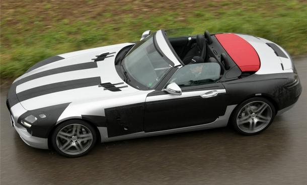 Mercedes SLS AMG Roadster Erlkönig
