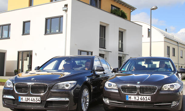 BMW 535d und 740d im Klassenvergeich
