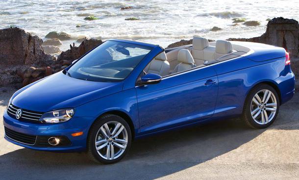 vw eos cabrio mit facelift. Black Bedroom Furniture Sets. Home Design Ideas