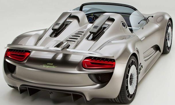 Porsche 918 Spyder Der Hybrid-Supersportwagen soll nach EU-Norm mit drei