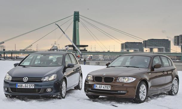 Kompakte Diesel: VW Golf 2.0 TDI und BMW 118d