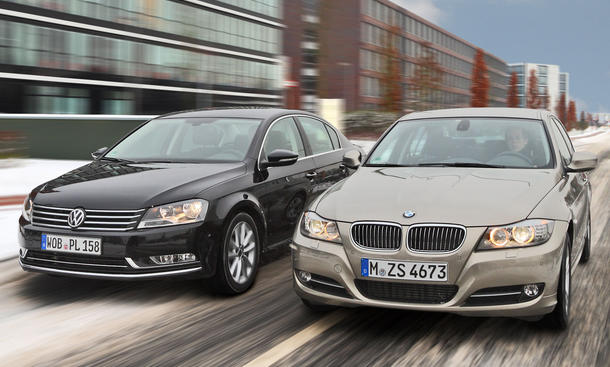 BMW 320d und VW Passat 2.0 TDI BlueMotion Technology sind ideale Kilometerkiller
