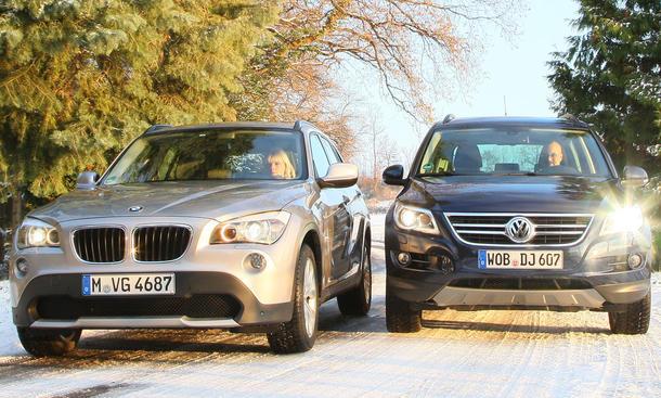 BMW X1 sDrive18i und VW Tiguan 2.0 TSI 4Motion sind spannende Alternativen zu Dreier und Golf