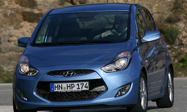 Hyundai ix20 blue 1.6 im Vergleichstest