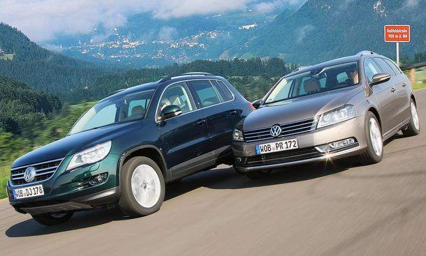 Der Preisunterschied von VW Passat Variant und VW Tiguan