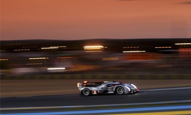 Drei Audi R18 TDI  bei den 24 Stunden von Le Mans 2011