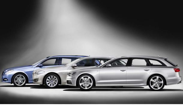 Kombi Vergleich Audi A6 Avant BMW 5er Touring Mercedes E-Klasse T-Modell