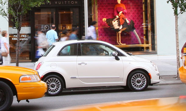 Bilder Faszination Auto Fiat 500 New York Taxi