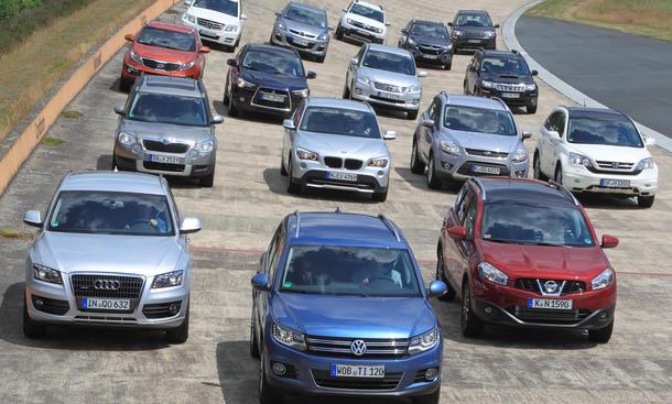 16 Kompakt-SUVs stehen sich im Test gegenüber