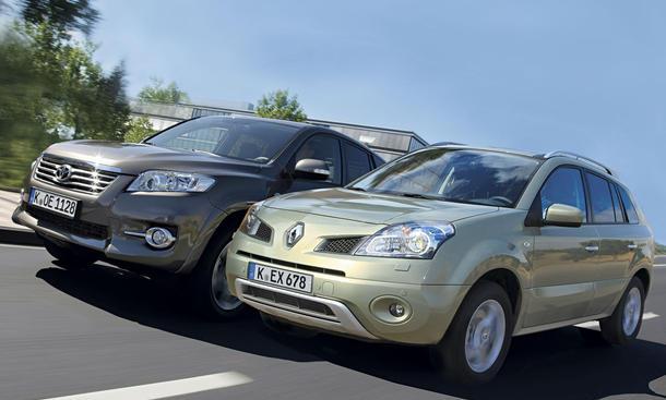 Kompakt-SUV: Renault Koleos und Toyota RAV4