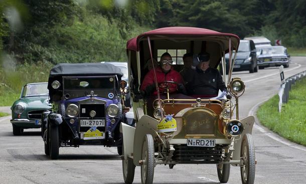 Das älteste Auto der Bosch Boxberg Klassik ist ein Buick Typ B Touring
