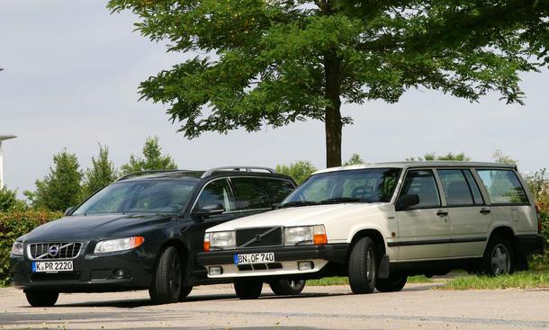 Volvo V70 und Volvo 740 im Vergleich