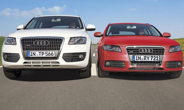 Audi A4 und Audi Q5 im Vergleich