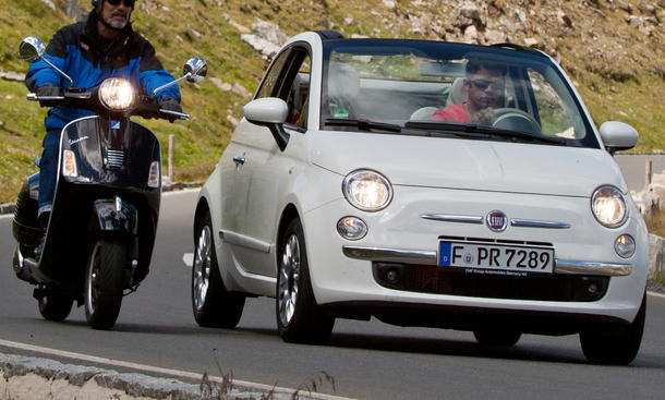 Bilder Fiat 500C Vespa GTS 300 Tour