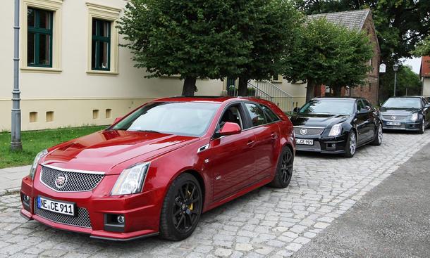 Cadillac CTS-V Coupé, Limousine und Kombi standen am Testtag zur Verfügung