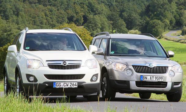 Opel Antara und Skoda Yeti im Test