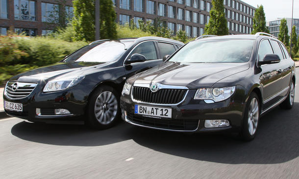 Opel Insignia Sports Tourer und Skoda Superb Combi im Test