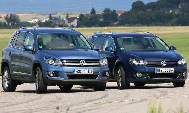 Siegertypen: VW Golf Variant und VW Tiguan