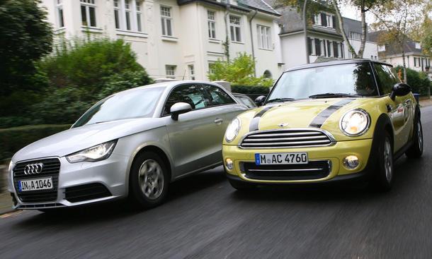 Audi A1 und Mini Cooper